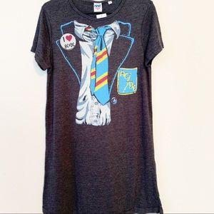 Junk Food AC DC T-shirt Dress NWT